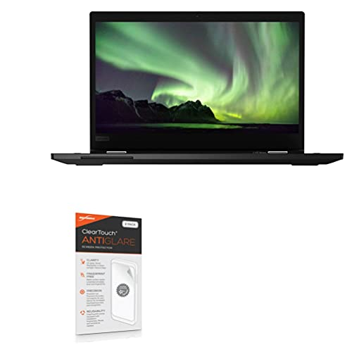 Screen Protector for Lenovo ThinkPad L13 Yoga 2-in-1 Gen 1 (13.3 in) (Screen Protector by BoxWave) - ClearTouch Anti-Glare (2-Pack), Anti-Fingerprint Matte Film Skin