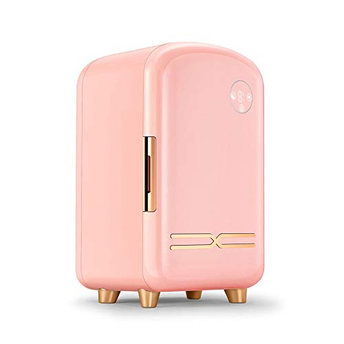 TITO Mini Frigorifero 12 Litri, Frigorifero Cosmetico A Temperatura Costante, Illuminazione Integrata, Frigorifero per Auto Grande capacità, Frigorifero Portatile (Pink)