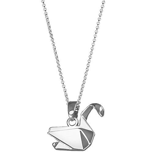 YUANCHENG Mil grullas de Papel Hollow Dove Origami Pigeon Long Animal Collar Bird Pendant Necklace