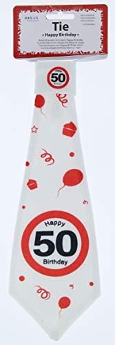 KMC Austria Design Corbata de cumpleaos 50 aos, seal de trfico 50 Happy Birthday Party decoracin