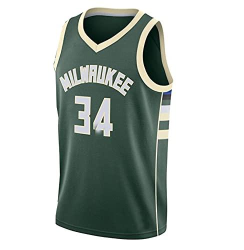 JX-PEP Chaleco de Baloncesto de los Hombres Tamaño 34 Top Uniforme de Baloncesto, Adecuado para los fanáticos,Verde,XL