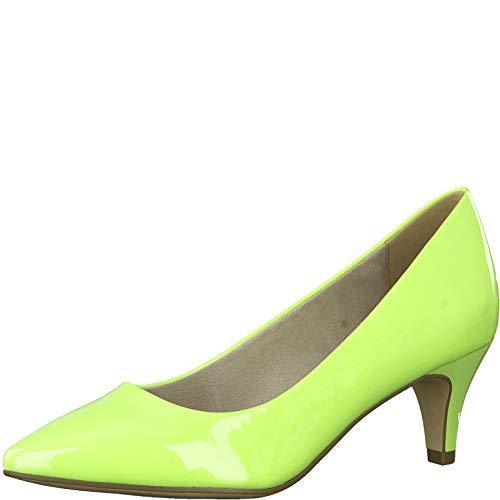 Tamaris Damen Pumps 22495-34, Frauen KlassischePumps, Court-Shoes Absatzschuhe Abendschuhe stöckelschuhe Damen Lady,Lime PATENT,37 EU / 4 UK