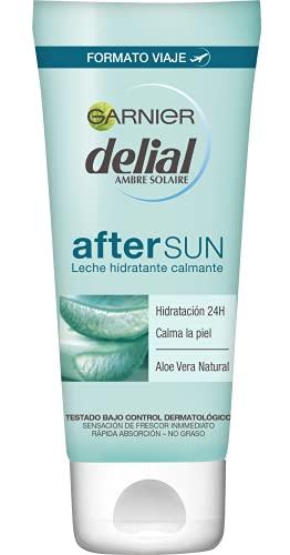 GARNIER DELIAL After Sun Leche Hidratante Calmante con Aloe Vera Natural, Formato Viaje - 100 ml