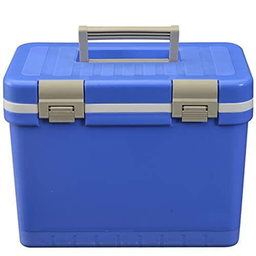 LZL Portátil portátil de 15 Cuartos a Prueba de Fugas con Aislamiento Ligero con Aislamiento de la Caja Fuerte del refrigerador para la Pesca, la Caza y el Camping (Color : Blue)