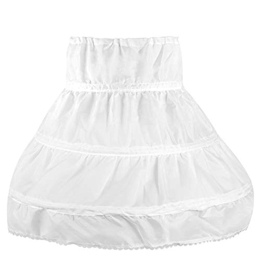 OULII Girls' Petticoat Half Slip 3 Hoop Flower Girl Crinoline Petticoat Skirt