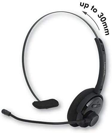 TronicXL Bluetooth Headset Mono mit Kopfbügel für Smartphone Kopfhörer + Mikrofon kompatibel mit Caterpillar Cat S32 S52 S61 S41 S31 S60 S40 B15Q S30 S50 b15 b10 Baustellenhandy