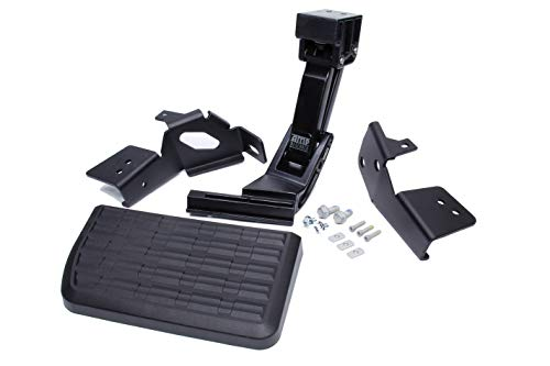 AMP Research 75313-01A BedStep Flip Down Bumper Step for 17-21 Ford F-250/350/450 (F450 will not work with the vibration dampner installed)