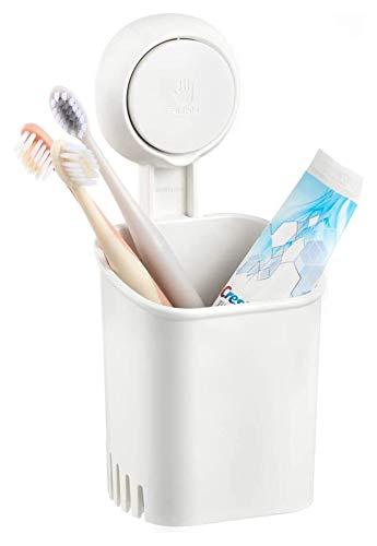 ZHANMAGS Soporte para cepillo de dientes con ventosa para colgar en la pared, organizador de baño para niños y adultos, cepillo de dientes eléctrico, pasta de dientes, maquinilla de afeitar 1209