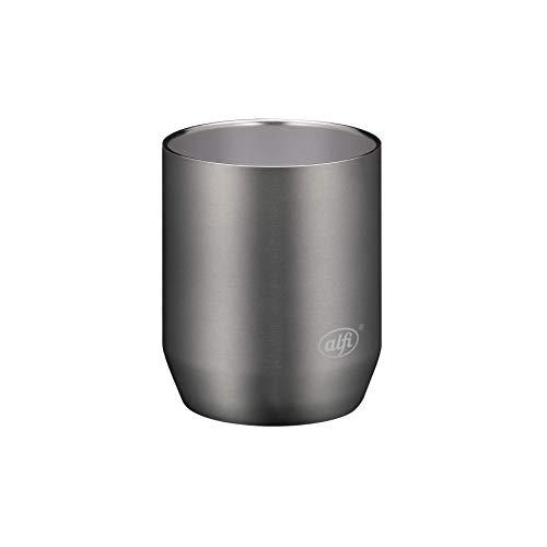 alfi Edelstahltasse City Cup 280ml, Tasse Edelstahl grau, Kaffeebecher langlebig, ohne Innenbeschichtung und frei von BPA, ideal für Büro oder Camping - 5567.234.028