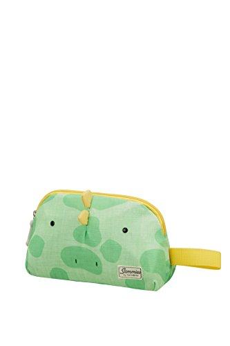 Samsonite Happy Sammies - toilettas, 21,5 cm, 2 L, bruin (teddy bear), groen (Dino Rex) (meerkleurig) - 93449/6563