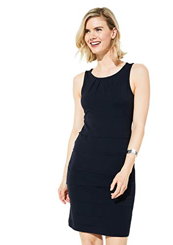 comma Damen 81.905.82.5043 Kleid, Blau (Tinte 5976), (Herstellergröße: 40)