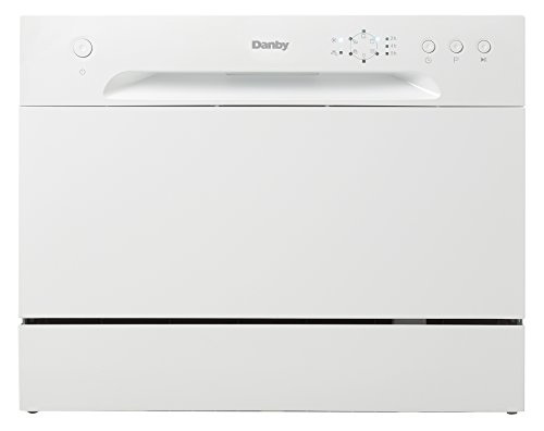 Danby DDW621WDB Countertop Dishwasher with 6 Place Settings, 6 Wash Cycles and Silverware Basket, Energy Star-Rated with Low Water Consumption and Quiet Operation