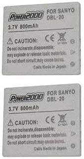 2 DB-L20 DBL-20AU VAR-L20U Battery for Sanyo VPC-C1, Sanyo VPC-C4, Sanyo VPC-C5, Sanyo VPC-C6, Sanyo VPC-CA9