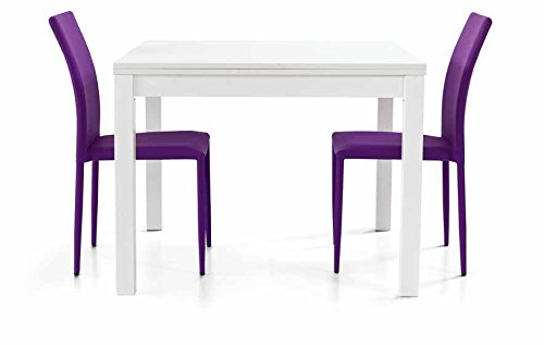 Legno&Design Table carré Blanc frassinato Ouverture à Livre