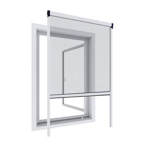 WIP Alu-Insektenschutz Fensterrollo 100x160cm, weiß
