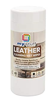 My Stuff All-Purpose Leather Cleaning Wipes Protective Cloths for Furniture Chairs Remove Dirt Fingerprints Dust Fresh Scent 40-ct.