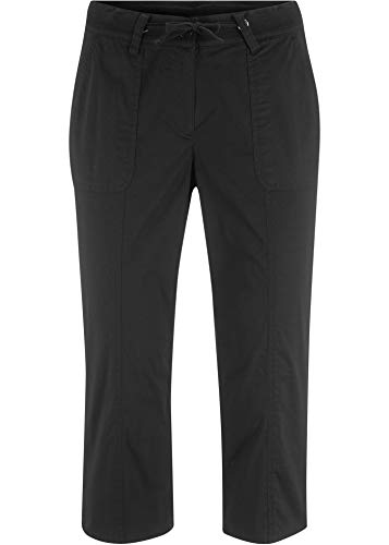 bonprix Papertouch-Capri-Hose schwarz 3/4 Bein 40 für Damen