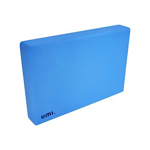 UMI. by Amazon -Yoga Bloque Ladrillos de Yoga EVA Bloque para Yoga, Pilates, Ejercicio, Antideslizante y Ligero (Azul, 1 pc)