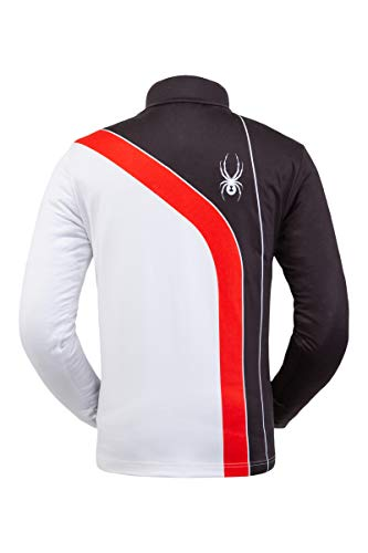 Spyder Active Sports Herren Rival Zip T-Neck, Black Volcano, Größe L