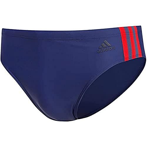 adidas Fit TR 3S, Costume da Nuoto Uomo, Tech Indigo/Scarlet, 8