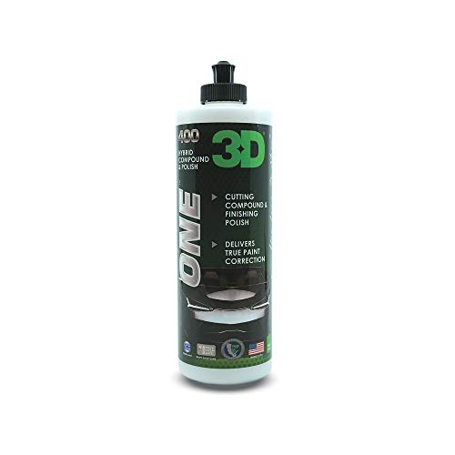 3D One - Scratch & Swirl Remover Rubbing Compound & Finishing Polish for True Car Paint Correction & Detailing 16oz.