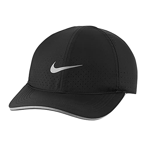 NIKE ナイキ ランニングキャップ 帽子 スポーツ マラソン 軽量 ドライフィット アスリート (ブラック) [並行輸入品]