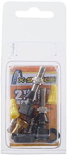 X-Sauce Kit 2 Válvulas Finas con Adaptador, Negro, Talla Única