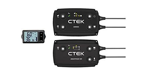 CTEK 40-257 100 Amp Off-Road Ladesystem, D250SA On-Board Ladegerät, Smartpass120 mit System-Display, Schwarz