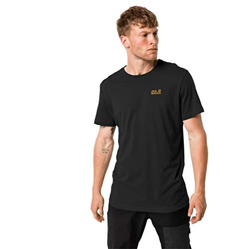 Jack Wolfskin - T-Shirt Essenziale da Uomo, Uomo, 1805781, Nero, L