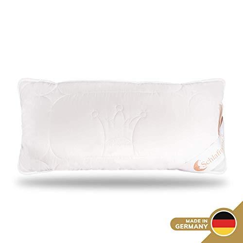 Schlafmond Der Kleine Prinz Naturfaser Kopfkissen 40 x 80 cm, Kissen mit anpassbarer Füllmenge, Baumwolle Schurwolle Kapok, bis 60 Grad waschbar, Made in Germany