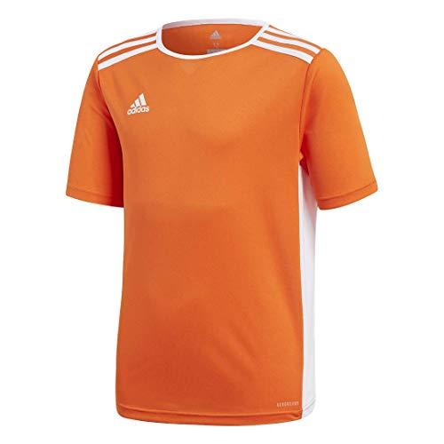 adidas Boys' Entrada Jersey, Orange/White, Large