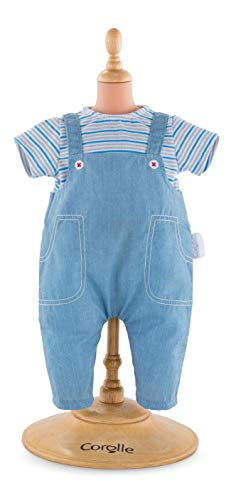 Corolle Mon Premier Poupon 12' Striped T-Shirt & Overalls Toy Baby Doll