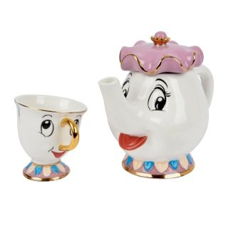 Set de Tetera Sra Potts + Taza Chip de La Bella y...