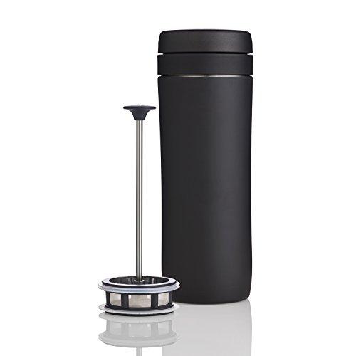 Espro 5012T-15BK P1 Travel Tea Press, 12 oz, Matte Black