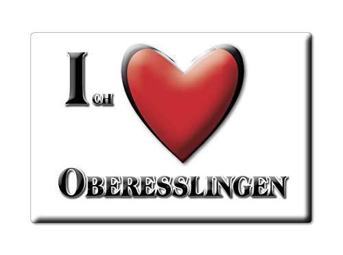 Enjoymagnets OBERESSLINGEN (BW) Souvenir Deutschland Baden WÜRTTEMBERG Fridge Magnet KÜHLSCHRANK Magnet ICH Liebe I Love