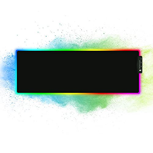 RGB Gaming Mouse Pad with 4USB Port, 14 Modes LED Light-Large Size Soft Extra Extended Mousepad, Anti-Slip Rubber Base Computer Keyboard Mat 31.5X 11.8in(XL)