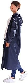 NYDZDM Adult Raincoat Long Rain Poncho,Reusable Waterproof Portable Electric Rainwear with Hood,Outdoor Sports Hiking Windbreaker Riding for Men and Women Multi-Color Optional