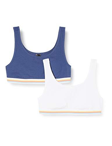 Schiesser Mädchen Multipack 2Pack Bustiers Bustier, Mehrfarbig (Sortiert 5 911), (Herstellergröße: 140) (2er Pack)