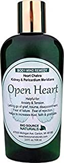Open Heart Body Mind Vibrational Remedy Lotion 3.8 fl oz for Disappointment, Sorrow - Made with Bach Flower Essences, Gem Elixirs and Pure Essential Oils Essences