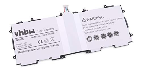 vhbw Li-Polymer Akku 6800mAh (3.8V) für Tablet Pad Netbook Samsung Galaxy Tab 3 10.1, Galaxy Tab3 10.1, GT-P5200, GT-P5210 wie AA1D625aS/7-B, T4500E.