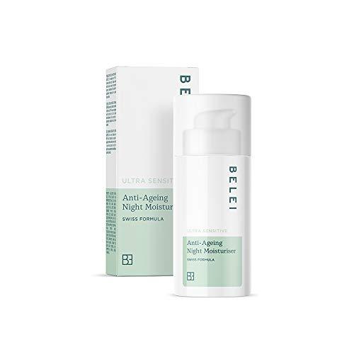 Marca Amazon - Belei Crema hidratante antiedad de noche para pieles ultrasensibles, 50ml