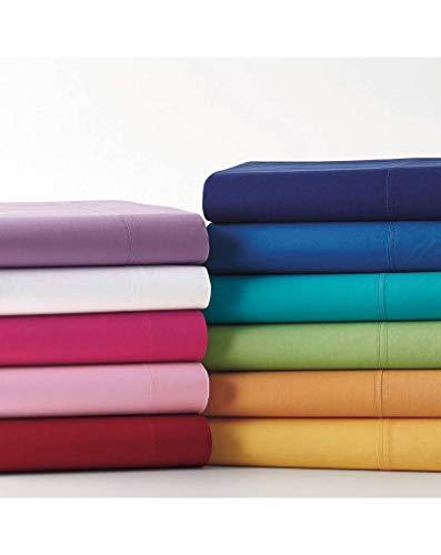 il dolce stile della tua casa Lenzuola sopra Piane matrimoniali, Puro Cotone Made in Italy (Bluette)