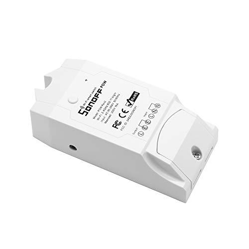 Festnight Sonoff Pow R2 ITEAD Smart Wifi Schalter, 16A / 3500W Wireless Ein/Aus-Controller Mit Echtzeitmessung des Stromverbrauchs Smart Home-Gerät