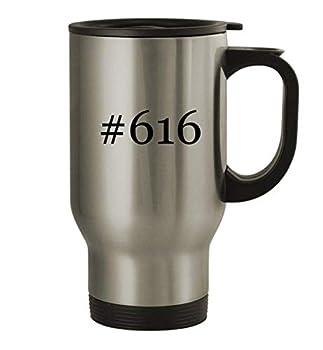 #616-14oz Stainless Steel Travel Mug Silver