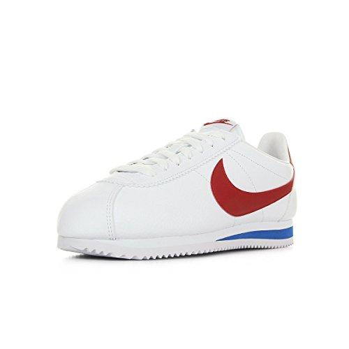 Nike Classic Cortez Leather, Scarpe da Corsa Uomo, Bianco White Varsity Red Varsity Royal 154, 44.5 EU