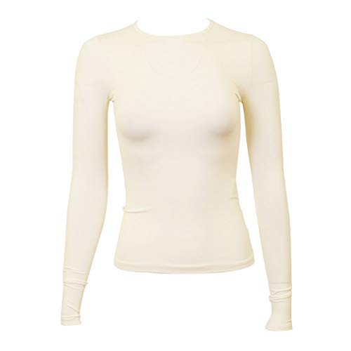 KIKI RIKI Womens Long Sleeve Lycra Shell - 17555 - Ivory, 2XL
