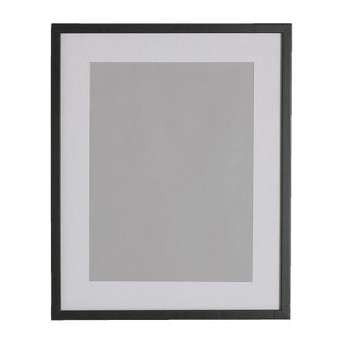 IKEA RIBBA Rahmen in schwarz; (40x50cm)