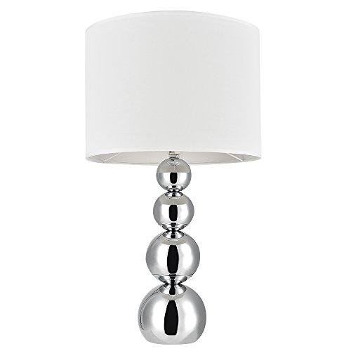 [lux.pro] Lampada da tavolo 'Snow' (43cm x Ø 25cm)(1 x E14 Sockel) lampada da tavolo lampada da comodino lampada da scrittoio