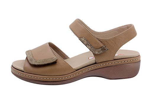 Zapato Cómodo Mujer Sandalia Plantilla Extraíble 190802 PieSanto