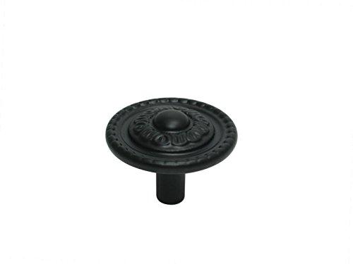 3 x Möbelknopf Möbelgriff Möbelgriffe Möbelknöpfe Griff Knopf schwarz Schmiedeeisen